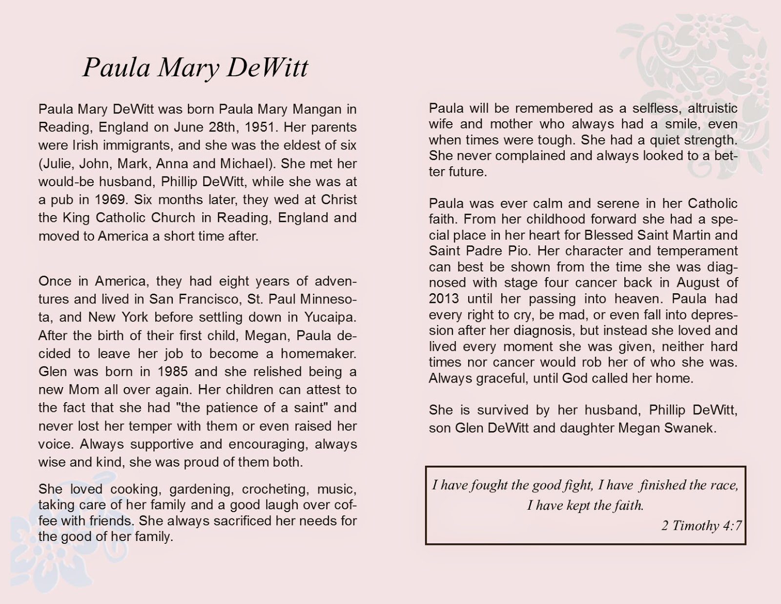 template eulogy mother - we are all made of stars mom 39 s obituary eulogy