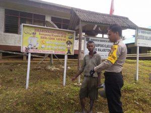 Polisi Ajak Warga Klagulu Jaga Keamanan dan Ketertiban Kampung