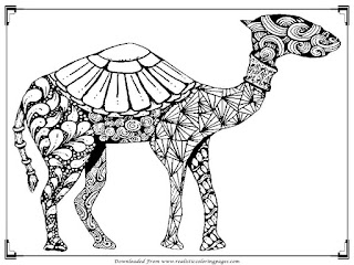 camel free printable adult coloring pages