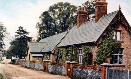 Photograph of a postcard of Water End Girls' School 1900sImage from G. Knott