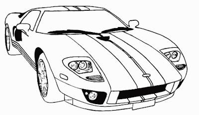 Gambar mobil mewah sketsa