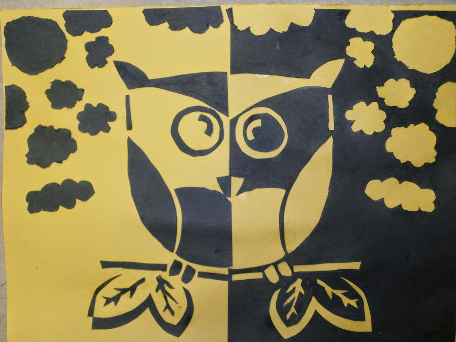Mr. MintArt: Positive and Negative Space Papercut Lesson