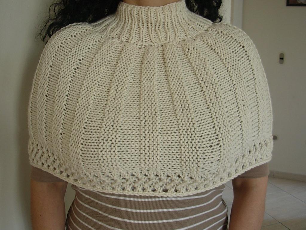 El arte de tejer flor tejida mini poncho tejido dos - Tejado a dos aguas ...