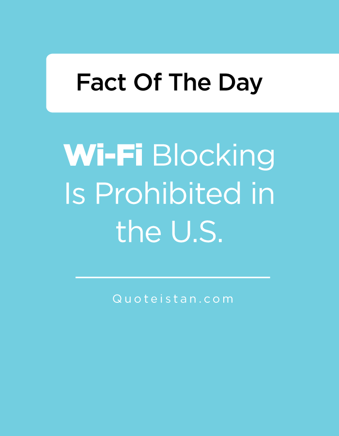 Wi-Fi Blocking Is Prohibited in the U.S.