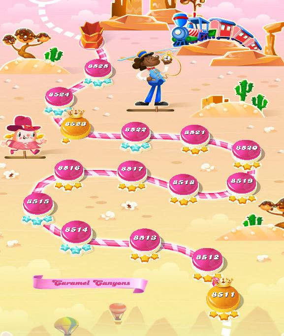 Candy Crush Saga level 8511-8525