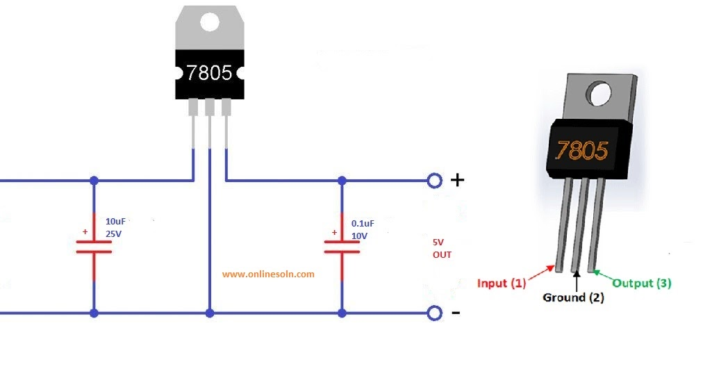 Converter Of 12 Voltage To 5 Voltage