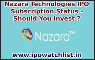 Nazara Technologies IPO subscription status