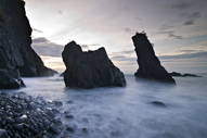 Ampere Beach & Rock Formation