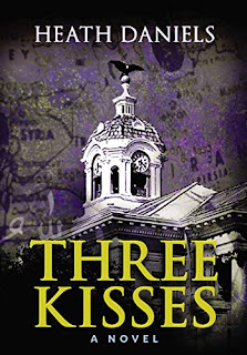 Three Kisses - a moving political thriller book promotion sites Heath Daniels