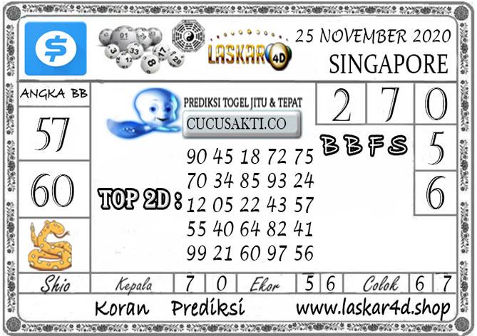Prediksi Togel SINGAPORE LASKAR4D 25 NOVEMBER 2020
