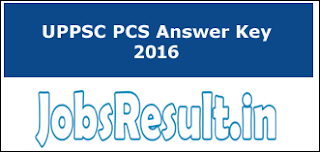 UPPSC PCS Answer Key 2016