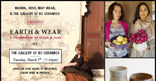 A Celebration of Cloth and Clay - March 7th