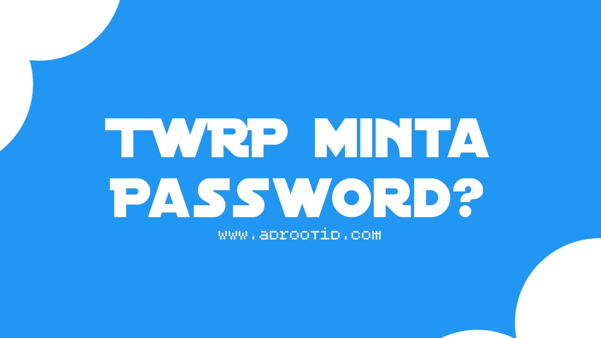 Fix TWRP Minta Password dan Memory tidak Terbaca
