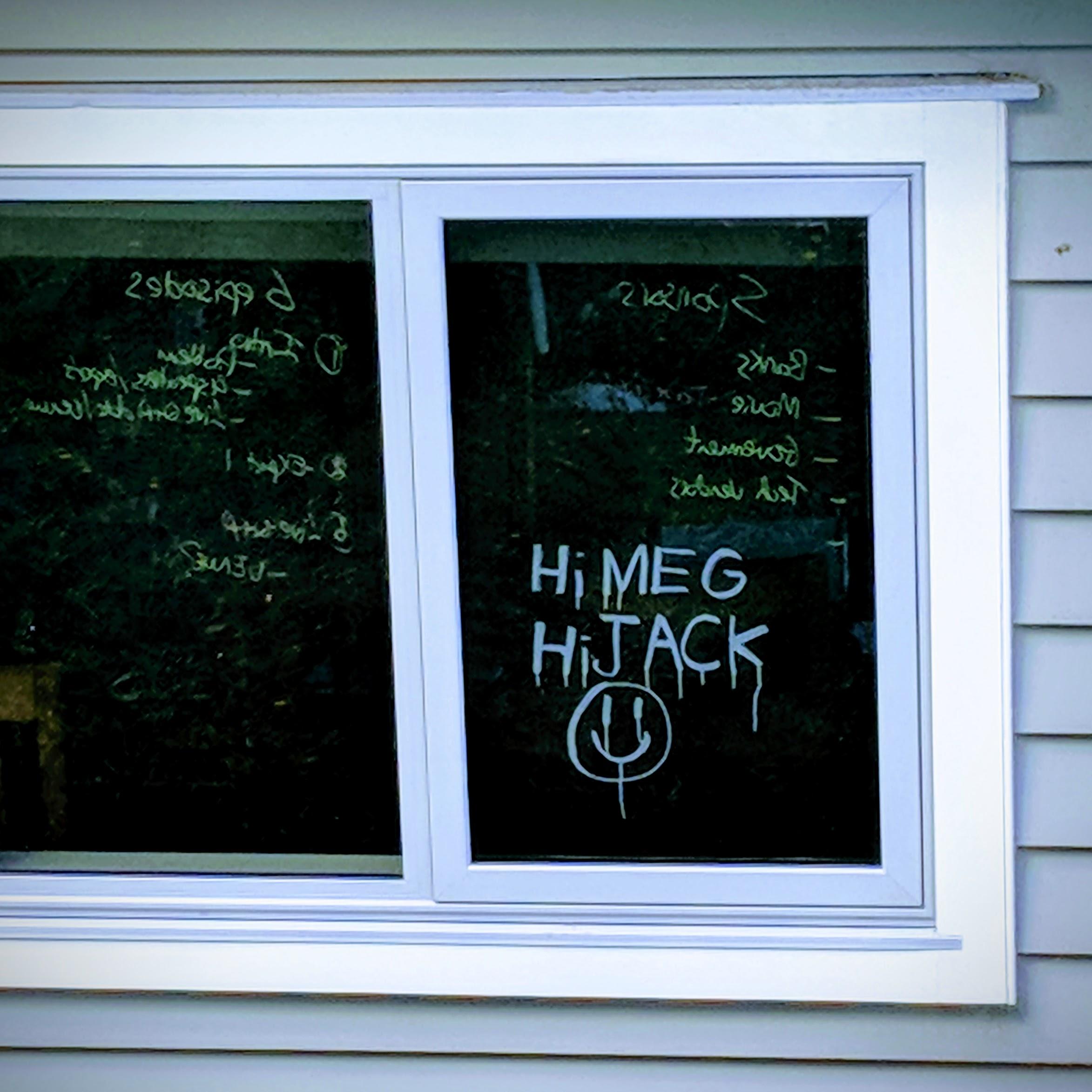 Neighbourly window sign