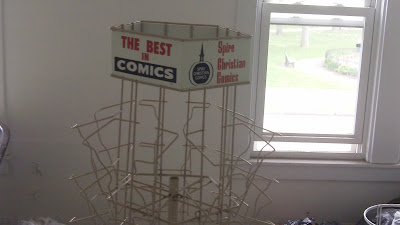 spire christian comics rack