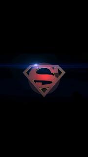 Super Man Logo Mobile HD Wallpaper