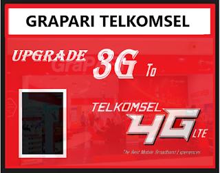 Cara Upgrade Kartu Telkomsel 3G ke 4G di GraPARI (Pengalaman)