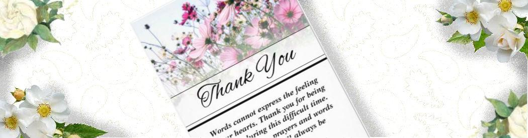 beautiful wild flower custom funeral thank you card