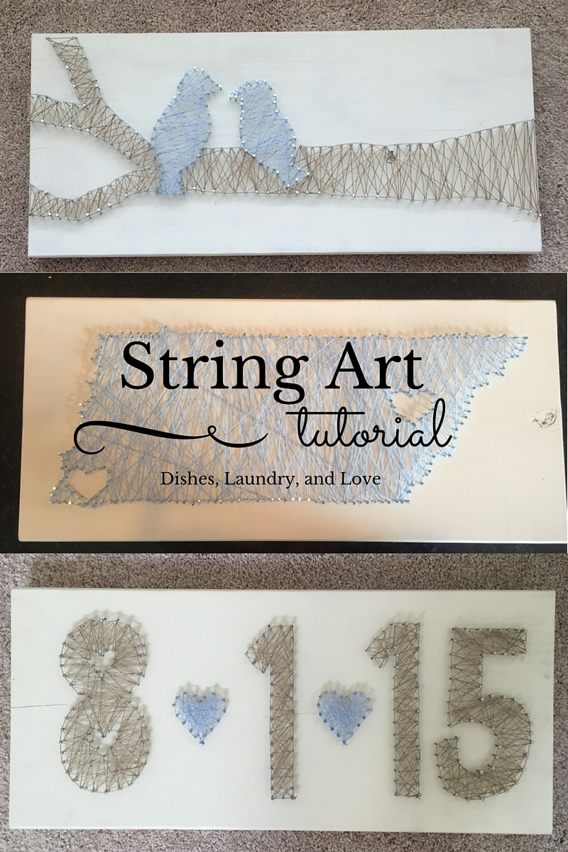 Dishes laundry and love string art tutorial string art tutorial baditri Image collections