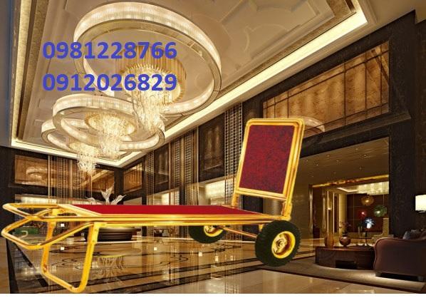Đơn vị phân phối xe đẩy hành lý inox vàng tốt nhất ở Nam Định