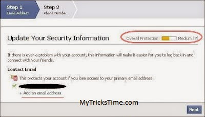 How To Increase Protection Of Facebook Account - MyTricksTime.com