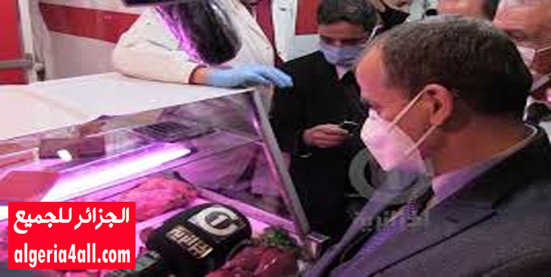 وزير التجارة يصادف تاجر بسوق سطيف لم يرتدي كمامة