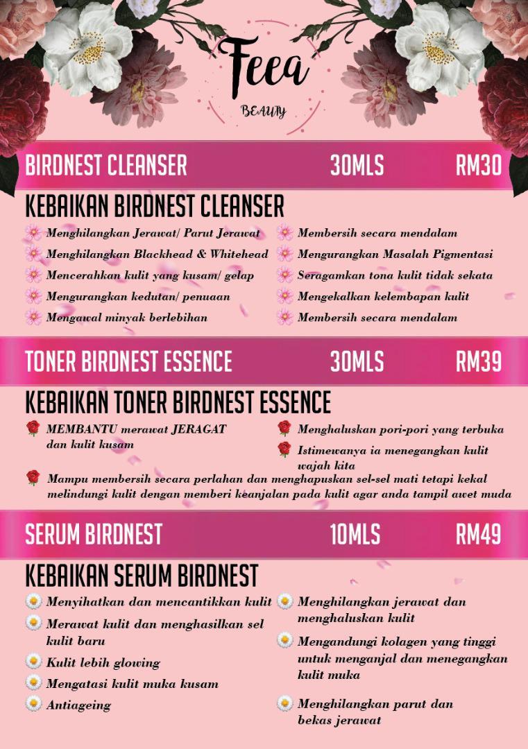 Feea Beauty Skincare Hasilkan Produk Kosmetik Sarang Burung Walit Asli