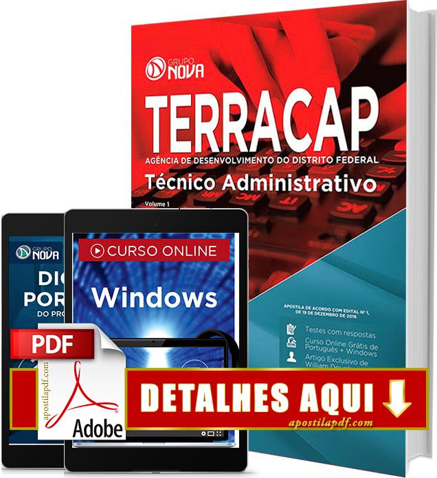 Apostila TERRACAP 2017 PDF Impressa Técnico Administrativo
