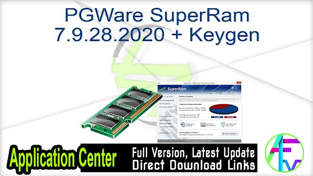 PGWare SuperRam 7.9.28.2020 + Keygen
