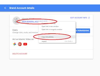 Cara Menemukan URL Brand Chanel Youtube Yang Terkena Suspend
