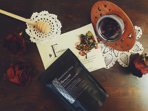 Magickal Folk Box Review: November: Feminae Tea Ritual Kit
