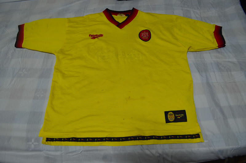 dafee1971ac8 White Trash  1997-1999 LIVERPOOL FOOTBALL TEAM AWAY JERSEY(sold)