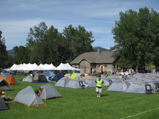 CGY crew setting up camp in Beall Park, Bozeman, Montana.