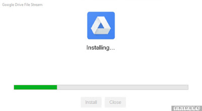proses install google drive file stream