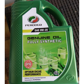 perodua engine oil fully synthetic OW-20 kuching