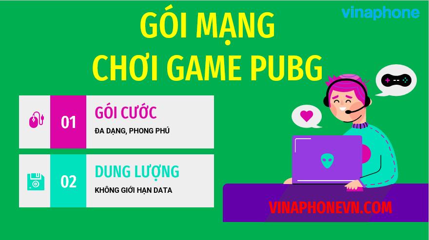 đăng ký mạng chơi PUBG Vinaphone