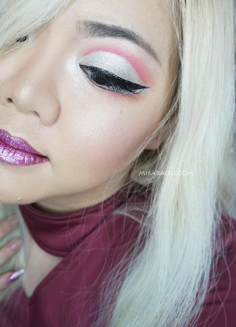 valentine day makeup tutorial metallic glitters