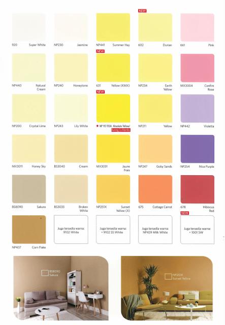 warna cat plantone