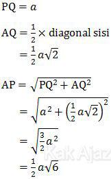 Data-data untuk menentukan sudut antara bidang AFH dan bidang ABCD