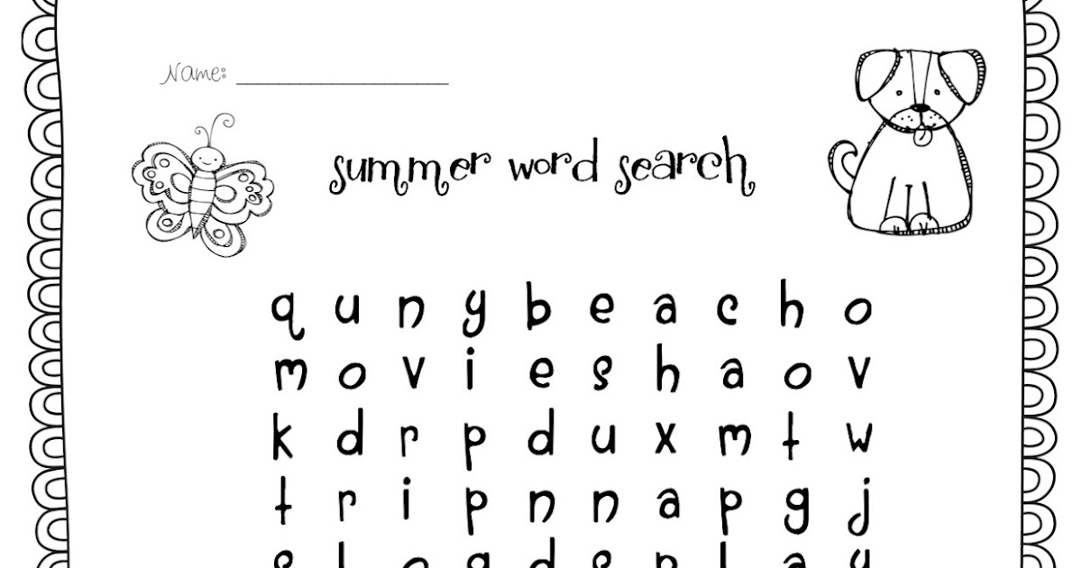 Temple's Teaching Tales: NEW FREEBIE! Summer Word Search!