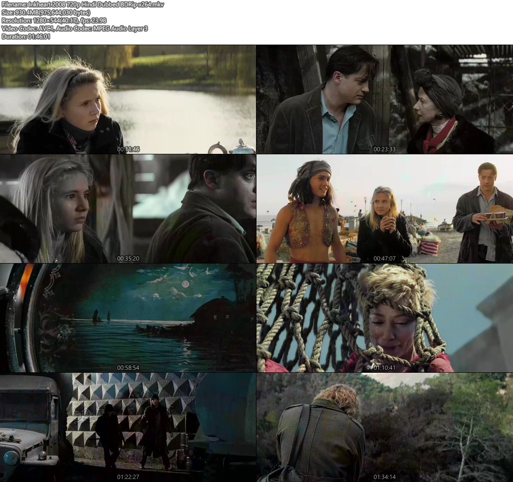 Inkheart 2008 720p Hindi Dubbed BDRip x264 | 480p 300MB | 100MB HEVC Screenshot
