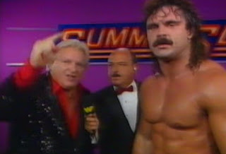 WWF / WWE Summerslam 1989 - Bobby Heenan and Rick Rude swear revenge on Roddy Piper and The Ultimate Warrior