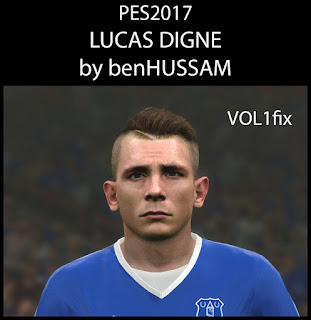 PES 2017 Faces Lucas Digne by BenHussam