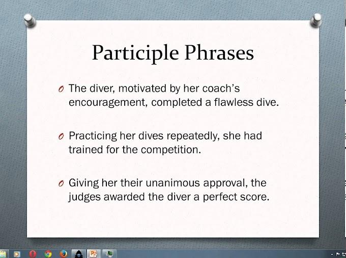 Mengenal Kalimat Participle Dan Contohnya