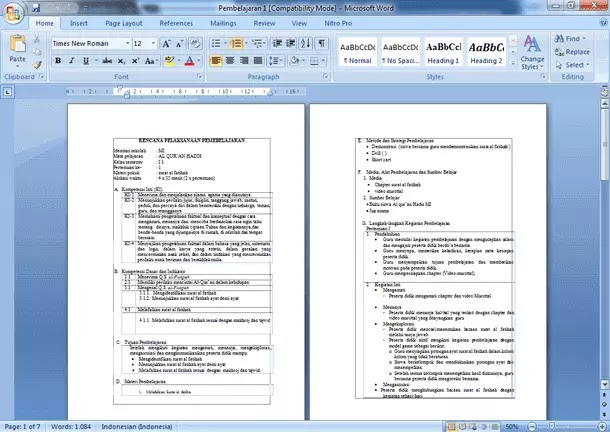 Contoh RPP Al-Qur'an dan Hadits MI Kurikulum 2013 Kelas 1 2 3 4 5 6