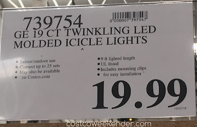 Costco 739754 -Deal for the GE Twinkling LED Molded Icicle Lights at Costco
