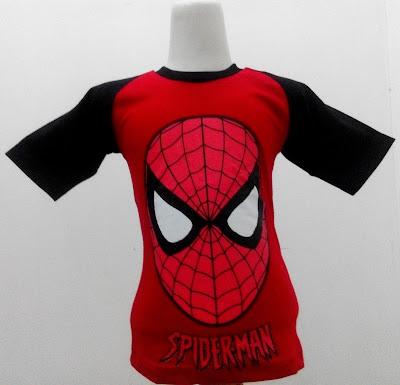 Kaos Raglan Anak Karakter Spiderman 3 Merah