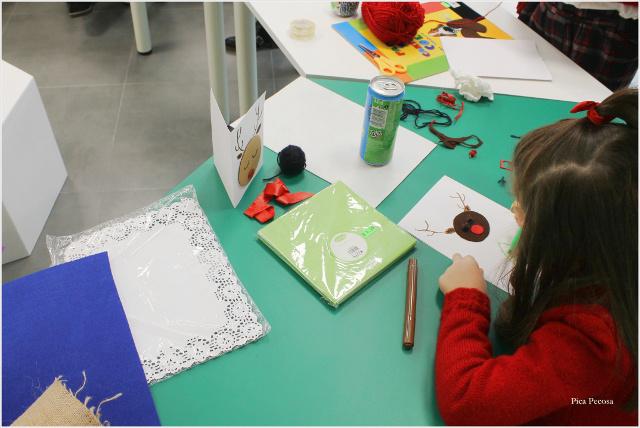 postal-navidad-diy-materiales-reciclados-taller-alumna