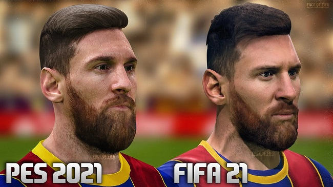 Comparison between PES 2021 vs FIFA 21