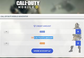 Getcodtool. com Get 99999 free CP Creadit Points COD Mobile